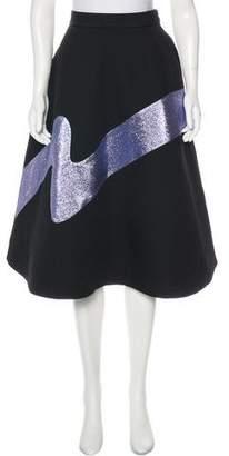 Vika Gazinskaya A-Line Metallic Midi Skirt