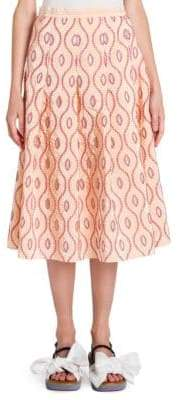 Marni Taffeta Pleated Skirt