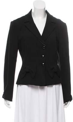 Armani Collezioni Bow Accented Knit Blazer