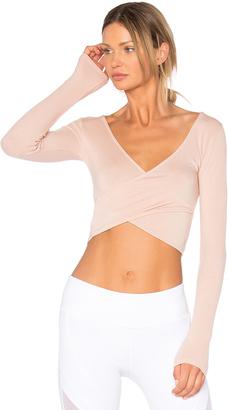 alo Amelia Long Sleeve Top $66 thestylecure.com