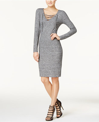 Fire Juniors' Lace-Up Bodycon Dress $39 thestylecure.com