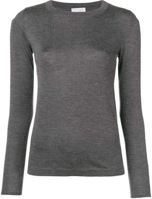 Brunello Cucinelli long-sleeve fitted sweater