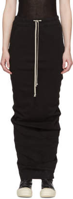 Rick Owens Black Soft Long Pillar Skirt