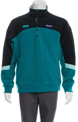 Opening Ceremony Columbia x Contrast Mock Neck Sweater w/ Tags aqua Columbia x Contrast Mock Neck Sweater w/ Tags