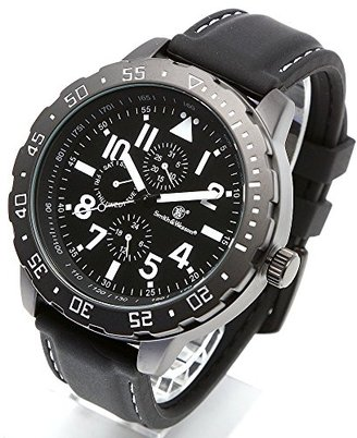 Smith & Wesson スミス&ウェッソン ミリタリー腕時計 CALIBRATOR WATCH WHITE/BLACK SWW-877-WH [正規品]