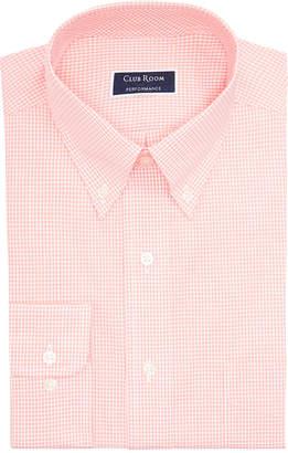 Club Room Men Big & Tall Classic/Regular Fit Mini Gingham Dress Shirt