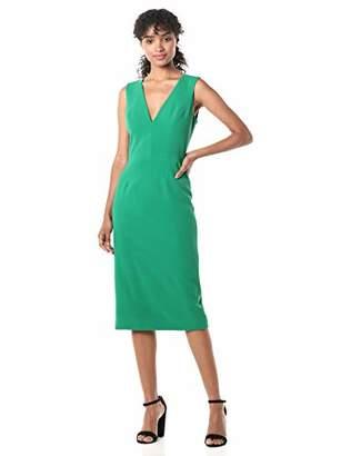 Dress the Population Women's Sandy Sleeveless Bodycon Stretch Midi Sheath Dress, OffL
