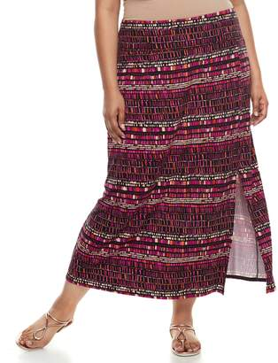 Apt. 9 Plus Size Tummy Control Maxi Skirt