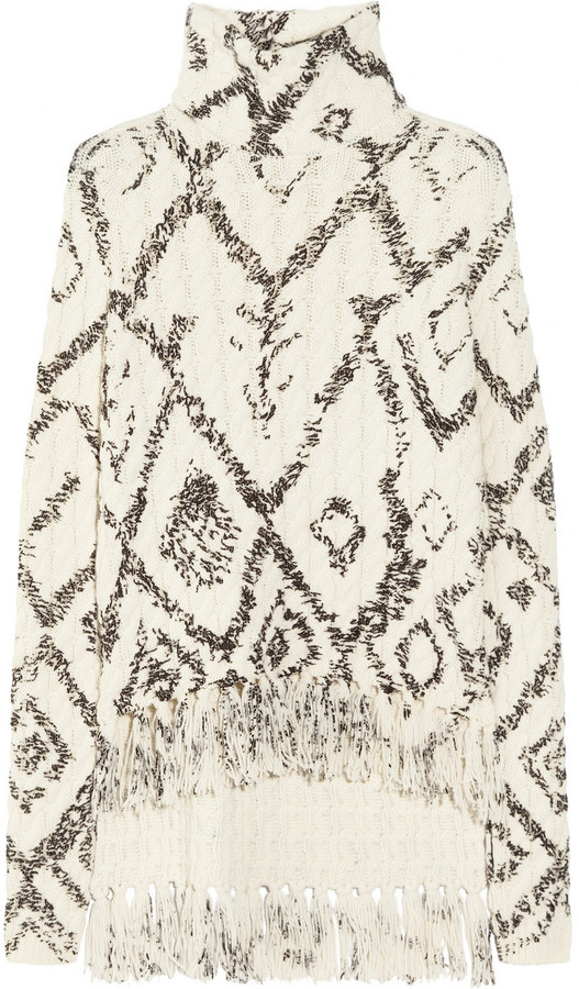 Altuzarra Senegal fringed wool and cashmere-blend sweater