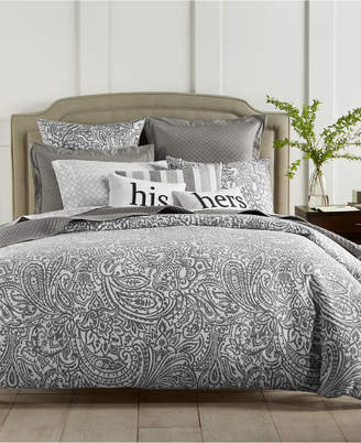Charter Club Damask Designs Stone Paisley Cotton 300-Thread Count 2-Pc. Twin Duvet Cover Set, Created for Macy's Bedding
