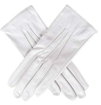 Black Ivory Silk Lined Italian Leather Gloves