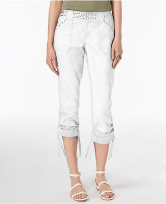 INC International Concepts I.n.c. Curvy-Fit Studded Cargo Pants, Created for Macy's