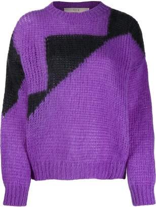 Tela oversized color-block sweater
