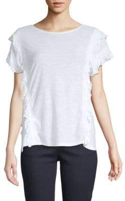 Vince Camuto Ruffle-Front Top