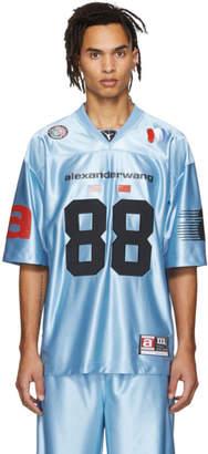 Alexander Wang Blue Jersey High Shine T-Shirt