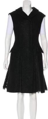 Alexander McQueen Lace-Trimmed Bouclé Vest