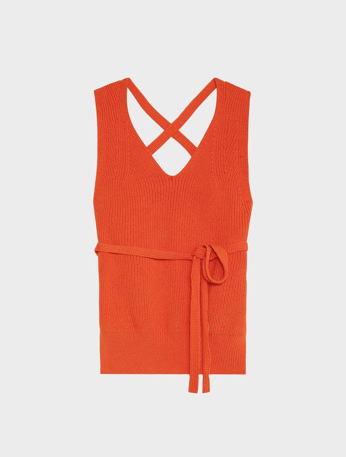 DKNYDkny Pure Sleeveless V-Neck Vest With Open Back