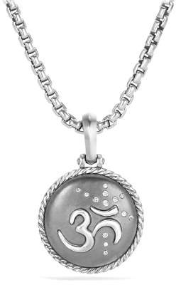 David Yurman Cable Collectibles Om Amulet with Diamonds
