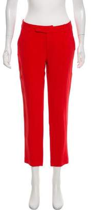 Nellie Partow Mid-Rise Silk Pants