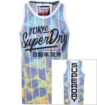 Superdry Ticket Type Infill Vest T Shirt White