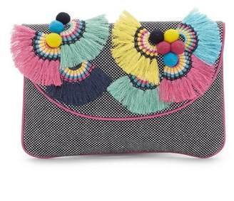 Vince Camuto Witan – Woven Embellished Clutch