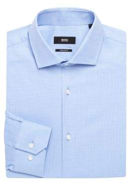 HUGO BOSS Chevron Textured Dress Shirt