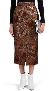 AKIRA NAKA Women's Metallic Jacquard Skirt - Gold