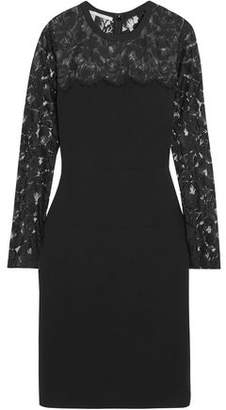Stella McCartney Sally Lace-Paneled Stretch-Crepe Mini Dress