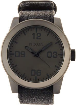 Nixon 48mm Corporal Matte Watch, Gunmetal