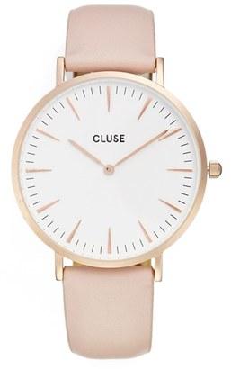 CLUSE La Bohème Leather Strap Watch, 38mm $99 thestylecure.com