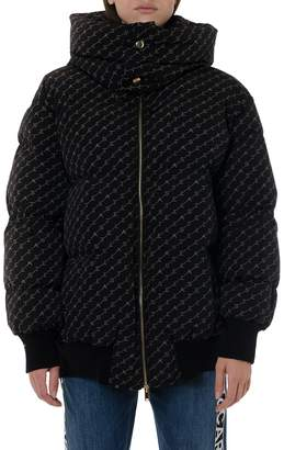 Stella McCartney Samara Black Down Jacket With Monogram