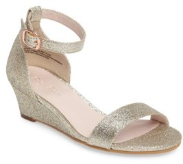 Girl's Ruby & Bloom Wedge Sandal $49.95 thestylecure.com