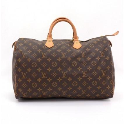 Louis Vuitton excellent (EX Brown Monogram Canvas Speedy 40 City Handbag