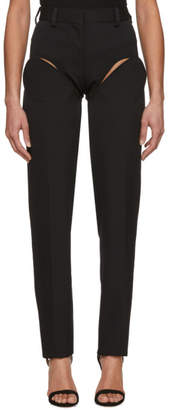 Y/Project Black Front Cut Tailored Trousers