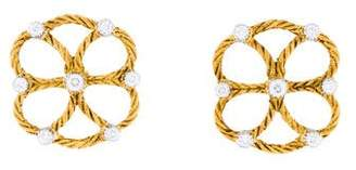 Buccellati 18K Diamond Earrings
