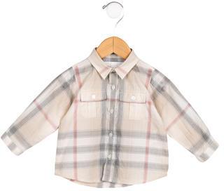 Burberry Boys' Nova Check Button-Up Shirt $45 thestylecure.com