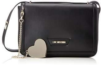 Love Moschino Borsa Calf Pu Nero, Women's Shoulder Bag,6x13x28 cm (B x H T)