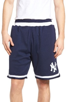 Men's Mitchell & Ness Playoff Win New York Yankees Mesh Warm-Up Shorts $125 thestylecure.com