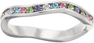 Brilliance+ Brilliance Rainbow Wavy Ring with Swarovski Crystal