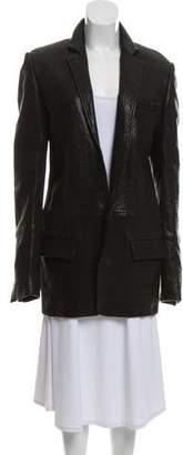 Haider Ackermann Notch-Lapel Leather Coat