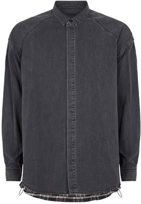 Juun.J Denim and Check Shirt