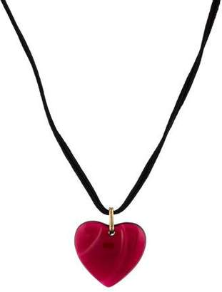 Baccarat Crystal Heart Pendant Necklace