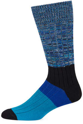 Paul Smith Men's Quad-Block Cotton-Blend Socks