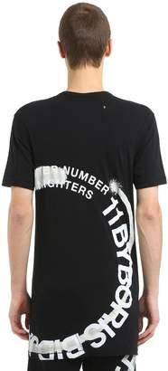 11 By Boris Bidjan Saberi Wheel Printed Cotton Jersey T-Shirt