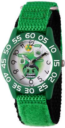 Marvel Emoji Boys Green Strap Watch-Wma000073