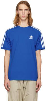 adidas Blue 3-Stripes T-Shirt