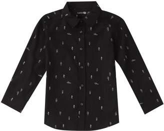 boohoo Boys Robot Print Long Sleeve Shirt