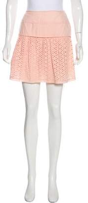 Philosophy di Alberta Ferretti Eyelet Mini Skirt