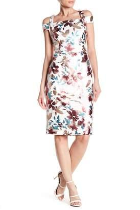 ECI Cold Shoulder Print Dress
