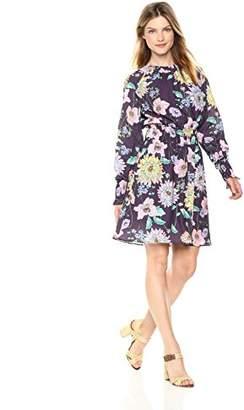71310179e8116a Ella Moon Women's Standard Smocked Waist Long Sleeve Mini Dress